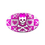 Skull Princess Sticker Oval (100 pack)