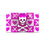 Skull Princess Sticker Rectangular (10 pack)