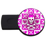 Skull Princess USB Flash Drive Round (2 GB)