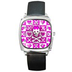 Skull Princess Square Metal Watch