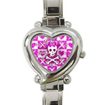 Skull Princess Heart Italian Charm Watch