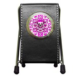 Skull Princess Pen Holder Desk Clock