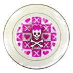 Skull Princess Porcelain Plate