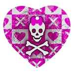 Skull Princess Heart Ornament (Two Sides)