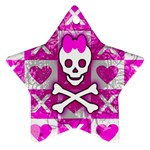 Skull Princess Star Ornament (Two Sides)