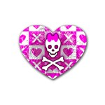 Skull Princess Heart Coaster (4 pack)