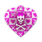 Skull Princess Dog Tag Heart (Two Sides)