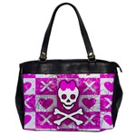 Skull Princess Oversize Office Handbag (One Side)