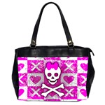 Skull Princess Oversize Office Handbag (Two Sides)