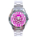 Skull Princess Stainless Steel Analogue Men's Watch