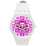 Skull Princess Round Plastic Sport Watch Medium