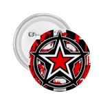 Star Checkerboard Splatter 2.25  Button