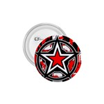 Star Checkerboard Splatter 1.75  Button