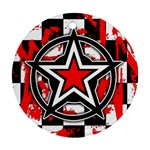Star Checkerboard Splatter Ornament (Round)