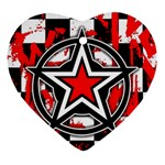 Star Checkerboard Splatter Ornament (Heart)