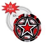Star Checkerboard Splatter 2.25  Button (10 pack)