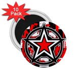 Star Checkerboard Splatter 2.25  Magnet (10 pack)