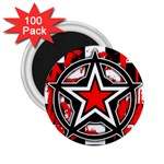 Star Checkerboard Splatter 2.25  Magnet (100 pack)