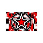 Star Checkerboard Splatter Sticker (Rectangular)