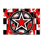 Star Checkerboard Splatter Sticker (A4)