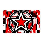 Star Checkerboard Splatter Magnet (Rectangular)