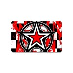 Star Checkerboard Splatter Magnet (Name Card)