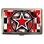 Star Checkerboard Splatter Cigarette Money Case