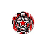 Star Checkerboard Splatter Golf Ball Marker (4 pack)