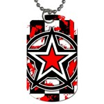 Star Checkerboard Splatter Dog Tag (Two Sides)