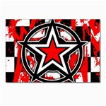 Star Checkerboard Splatter Postcard 5  x 7