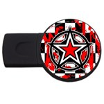 Star Checkerboard Splatter USB Flash Drive Round (2 GB)