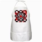 Star Checkerboard Splatter BBQ Apron