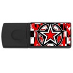 Star Checkerboard Splatter USB Flash Drive Rectangular (4 GB)