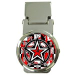 Star Checkerboard Splatter Money Clip Watch