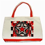 Star Checkerboard Splatter Classic Tote Bag (Red)