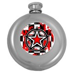 Star Checkerboard Splatter Hip Flask (5 oz)