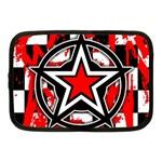 Star Checkerboard Splatter Netbook Case (Medium)