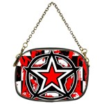 Star Checkerboard Splatter Chain Purse (Two Sides)
