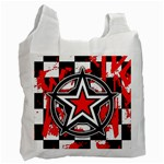 Star Checkerboard Splatter Recycle Bag (One Side)