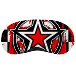 Star Checkerboard Splatter Sleeping Mask