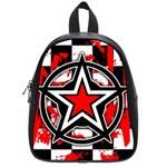 Star Checkerboard Splatter School Bag (Small)