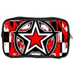 Star Checkerboard Splatter Toiletries Bag (Two Sides)