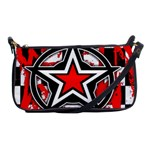 Star Checkerboard Splatter Shoulder Clutch Bag