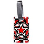 Star Checkerboard Splatter Luggage Tag (one side)