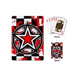 Star Checkerboard Splatter Playing Cards (Mini)