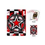Star Checkerboard Splatter Playing Cards (Mini)