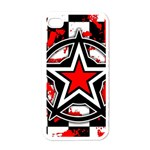 Star Checkerboard Splatter Apple iPhone 4 Case (White)