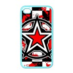 Star Checkerboard Splatter Apple iPhone 4 Case (Color)