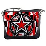 Star Checkerboard Splatter Messenger Bag