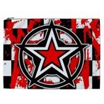 Star Checkerboard Splatter Cosmetic Bag (XXL)